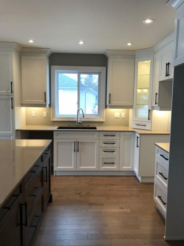 Big kitchen with huge island