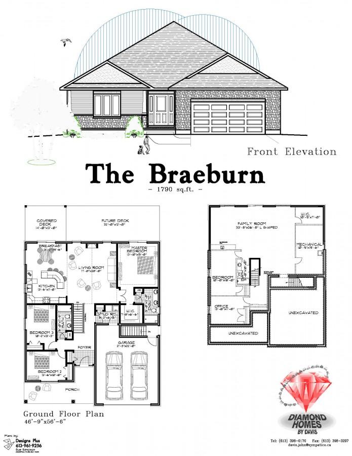 The braeburnurn diamond homes by davis for Davis homes floor plans